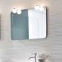 Зеркало IDEAGROUP Moon 90 см  с 2 светильниками купить