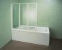 Шторка для ванной RAVAK Rosa VS3 100 белый/рэйн 795P010041 купить