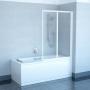 Шторка для ванной RAVAK Rosa VS2 105 белый/грэйп 796M0100ZG купить
