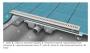 Дренажный канал RAVAK Zebra 1050 нержавеющая сталь X01393 купить