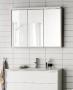 Зеркальный шкаф HAFA Original 120  белый шпон 1542552 купить