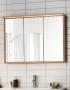 Зеркальный шкаф HAFA Original 120  шпон дуб 1542550 купить