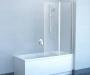 Шторка для ванны RAVAK Chrome CVS2-100 L сатин+стекло Transparent 7QLA0U00Z1 купить