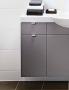 Шкафчик боковой под раковину IDO Select 297 х 620 х 320 мм темно-серый глянец 9830278111 купить
