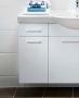 Шкафчик боковой под раковину IDO Select 297 х 650 х 370 мм белый глянец 9840221111 купить
