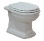 Унитаз приставной CEZARES Royal Palace Soft Close белое-хром купить