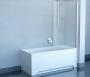 Шторка для ванны RAVAK Chrome CVS1-80 R сатин+стекло Transparent 7QR40U00Z1 купить