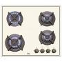 Варочная панель газовая TEKA ER 60 4G AI AL CI WHITE CREAM 40260711 купить