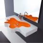 Раковина настенная DISEGNO CERAMICA Splash 100*56*10 мм двухцветная купить