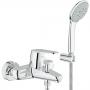 Смеситель для ванны GROHE Eurodisc Cosmopolitan с душевым гарнитуром Euphoria 33395002 купить
