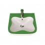 Купить: Мини-раковина LAUFEN Florakids 45х41х15 см белая - зеленая 8.1503.1.072.104.1
