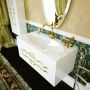 Тумба с раковиной CLARBERG Due Amanti Elegance 120 белая, ручки золото Due.01.12/W/GL купить