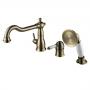 Смеситель для ванны встраиваемый на 3 отверстия LEMARK Villa LM4845B купить