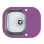 Мойка кухонная в базу 40 см ALVEUS  Wawe 10 фиолетовое стекло 1102935 купить