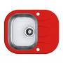 Мойка кухонная в базу 40 см ALVEUS  Wawe 10 красное стекло 1102933 купить