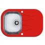 Мойка кухонная в базу 40 см ALVEUS  Wawe 20 красное стекло 1102937 купить