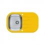Мойка кухонная в базу 40 см ALVEUS  Wawe 20 желтое стекло 1102938 купить
