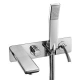 Смеситель для ванны встраиваемый E.C.A. Novita хром 102101130 купить