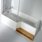 Ванна акриловая JACOB DELAFON Bain-Douche Neo 170*90-70 см E6D002L-00 купить