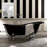 Ванна из искусственного камня KERASAN Retro 170*80 черный-белый 1052K2 купить