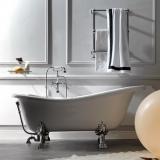 Ванна из искусственного камня KERASAN Retro 170*80 белый-хром 1051K0 купить