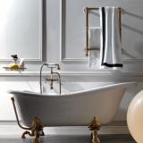 Ванна из искусственного камня KERASAN Retro 170*80 белый-золото 1051K1 купить