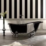 Ванна из искусственного камня KERASAN Retro 170*80 черный-хром 1052K0 купить
