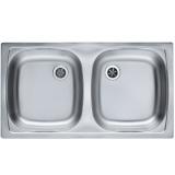 Мойка кухонная в базу 80 см ALVEUS Basic 160 декор 1039145 купить