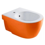 Биде подвесное OLYMPIA Nicole All colors 37 х 55 см белый - оранж 17NI01A купить