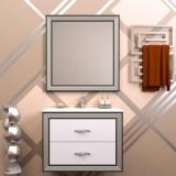 Мебель для ванной OPADIRIS Карат 80 белый - серебрянная патина купить