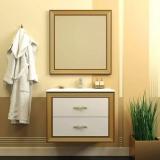 Мебель для ванной OPADIRIS Карат 80 слоновая кость - золотая патина купить