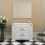Мебель для ванной OPADIRIS Оникс 100 белый - серебряная патина купить