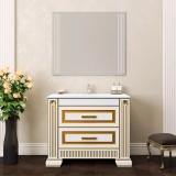 Мебель для ванной OPADIRIS Оникс 100  белый - с золотой патиной купить