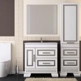 Мебель для ванной OPADIRIS Оникс 80 белый - серебряная патина купить