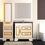Мебель для ванной OPADIRIS Оникс 80 Белый глянцевый с золотой патиной купить