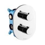 Смеситель для ванны термостатический на 3 потребителя RAVAK Chrome для R-box multi CR 067.00 X070075 купить