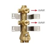 Скрытая часть термостатического смесителя на 2 потребителя BOSSINI Z030201000 купить