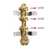 Скрытая часть термостатического смесителя на 3 потребителя BOSSINI Z030202000 купить