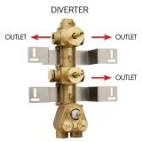 Скрытая часть термостатического смесителя на 3 потребителя BOSSINI Z030203000 купить