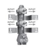 Скрытая часть термостатического смесителя на 4 потребителя BOSSINI Z030270000 купить