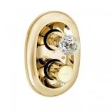 Смеситель для ванны термостатический встраиваемый KLUDI Adlon ручка хрусталь, золото 23 карата 5172045G4 купить