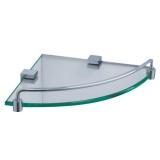 Полка стеклянная угловая ZEEGRES Cub 21117101 купить