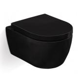 Унитаз подвесной SSWW 487*365*335 мм SoftClose черный  NC2037Black купить
