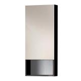 Зеркальный шкаф VALENTE Miragio 400*150*900 мм черный глянец Vlt 400  12 01/02Bl купить