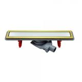 Дренажный канал PESTAN CONFLUO PREMIUM LINE 300 белое закаленное стекло-золото 13100088 купить