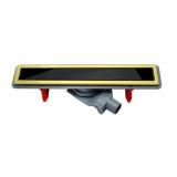 Дренажный канал PESTAN CONFLUO PREMIUM LINE 450 черное закаленное стекло-золото 13100095 купить
