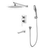 Душевая система для ванны встраиваемая LEMARK Melange хром-белый LM4922CW купить