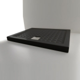 Душевой поддон керамический AXA Thaj 900*900*60 мм черный 5110007 купить