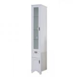 Шкаф-колонна АКВАТОН Идель 364x1916x342 мм левый дуб белый 1A198003IDM7L купить