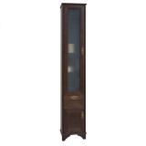 Шкаф-колонна АКВАТОН Идель 364x1916x342 мм левый дуб шоколадный купить